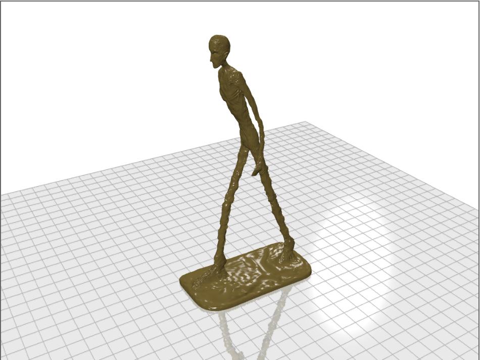 3D модель Джакометти Шагающий человек
