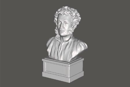 3D модель Пушкин