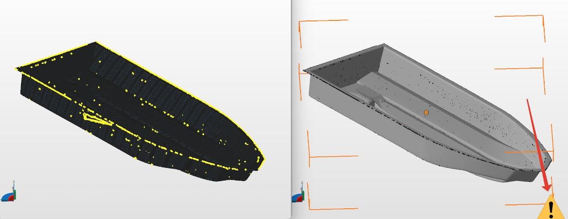 Ошибка 3D-сканирования